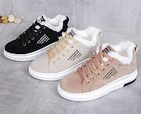 Женские теплые кроссовки. Модель 41030, фото 8