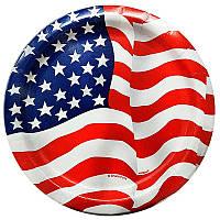 Тарелки флаг США 8шт/уп 43744