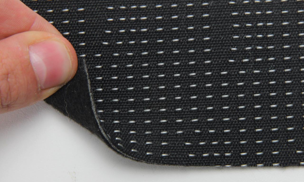 Автоткань оригинальная для центра сидений (черный 7202), основа на войлоке, толщина 2мм, ширина 140см