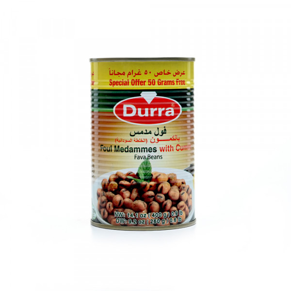 Консервированные бобы с кумином (фуль) Durra 400 грамм