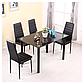 Комплект кухонной мебели: Стеклянный стол и 4 кресла  STELLA 22 ЧЕРНЫЙ, фото 8