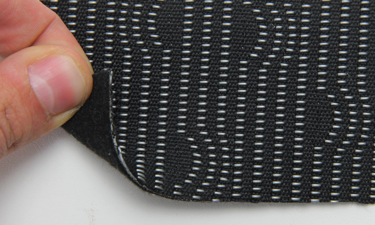 Автоткань оригинальная для центра сидений (черный 7202/2), основа на войлоке, толщина 2мм, ширина 140см