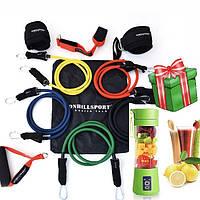 Набор трубчатых эспандеров для спорта с петлями| Универсальный трубчатые резиновые жгуты Бубновского из 5 шт
