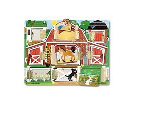 Розвиваюча іграшка Melissa & Doug Дошка з віконцями Ферма (MD14592) (код 95149)
