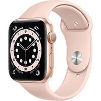 Смарт-часы Apple Watch Series 6 GPS, 40mm Gold Aluminium Case with Pink Sand (MG123UL/A)