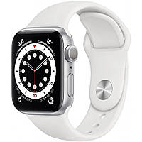 Смарт-часы Apple Watch Series 6 GPS, 40mm Silver Aluminium Case with White Sp (MG283UL/A)