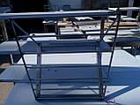 Полку 3 х ур. 1800х300х690 з 201 нержавіючої сталі, фото 9