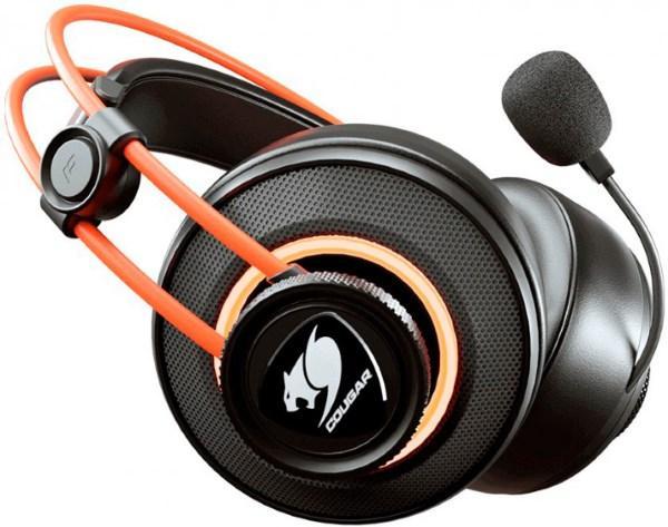 HeadPhone+Mic Cougar Immersa Pro Prix Ігрова гарнітура, RGB, USB only, 7.1 Virtual, 50 мм драйвери,