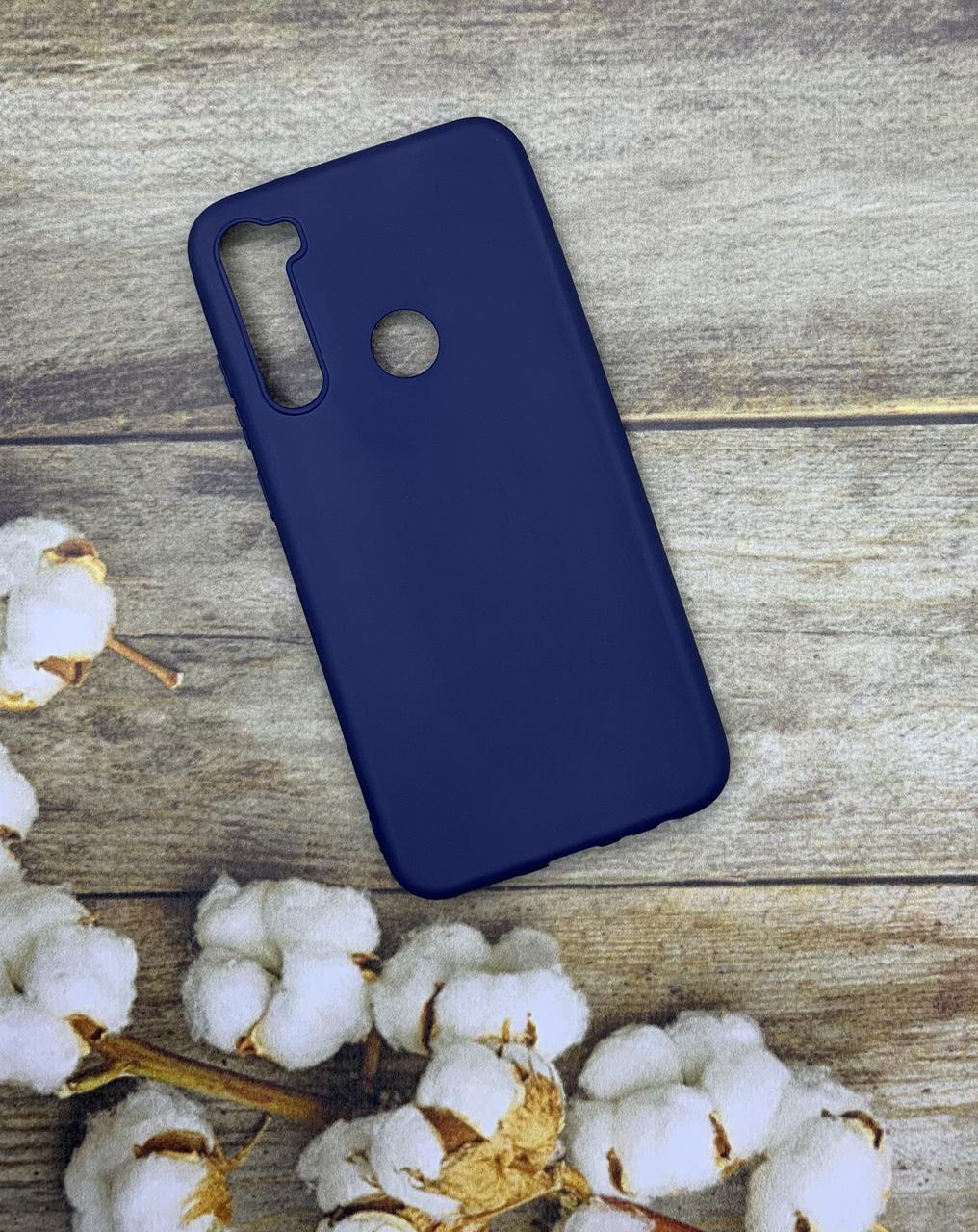 Чехол на Xiaomi Redmi Note 8 силиконовый цветной бампер синий