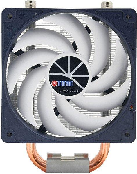 Охолоджувач Cooler for CPU Titan TTC-NC15TZ/KU/V3(RB) універсальний Hati, Intel/AMD, 3 heatpipes, PWM 130 x 80