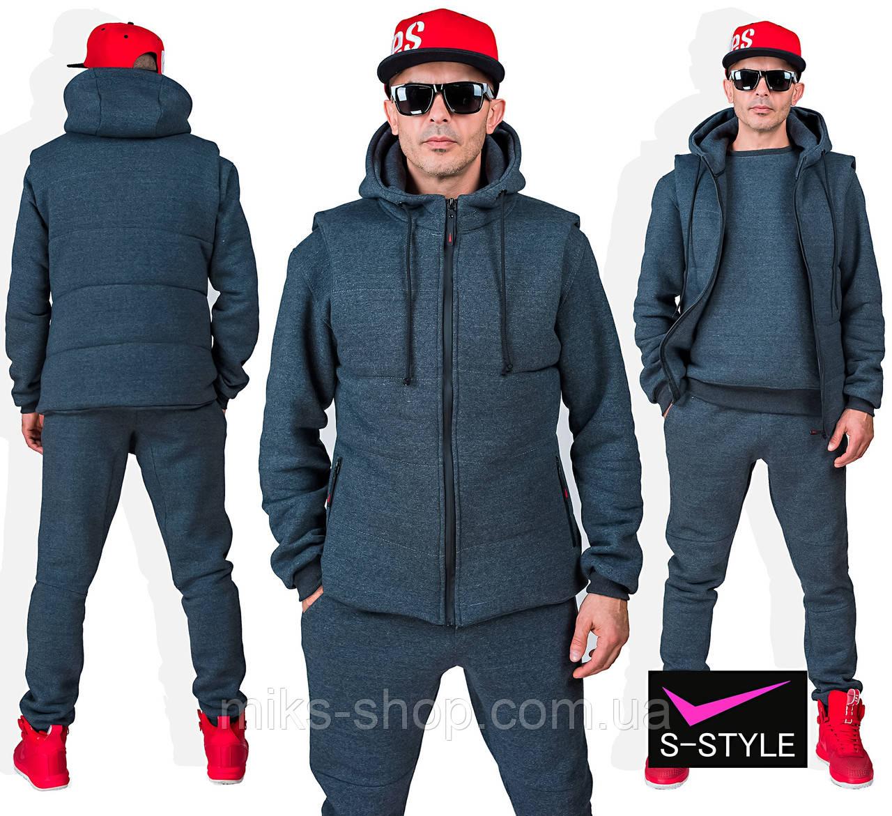 Теплий чоловічий спортивний костюм №113 М, L,  XL, XXL