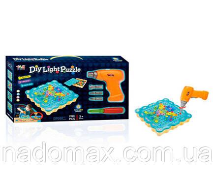 Конструктор DIY Light Puzzle 200 деталей, фото 2