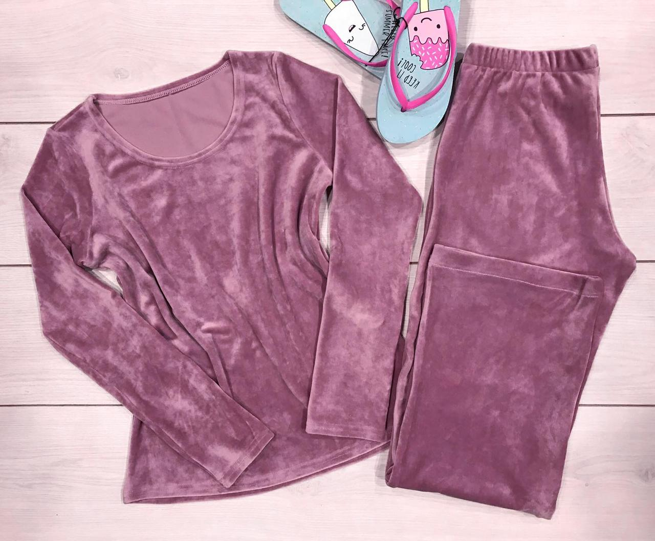 Велюрова піжама майка і штани