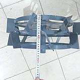 Колеса с грунтозацепами 400/160 (10*10) МБ С ПОЛУОСЬЮ 32мм, фото 6