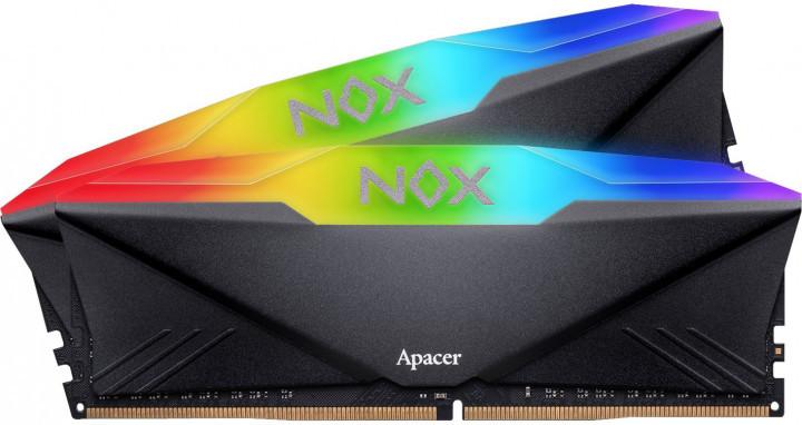 Пам'ять DDR4 RAM 16GB Apacer 2666MHz PC4-21300 (Kit of 2x8GB) NOX RGB (AH4U16G26C08YNBAA-2) (код 112290)