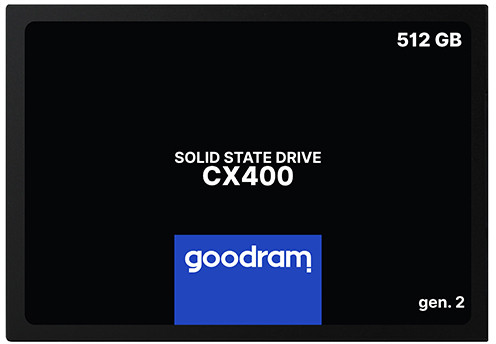 "Твердотільний диск SSD 2.5"" 512GB Goodram CX400  SATA 3, TLC  (SSDPR-CX400-512-G2) (код 117041)"
