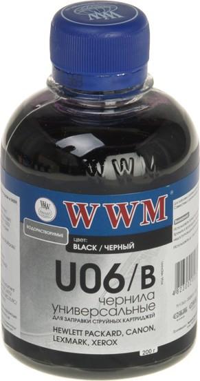Чорнило Universal CANON/HP/LEXMARK/XEROX (Black) 200г *WWM (код 66865)