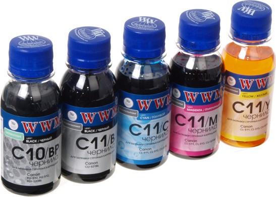 Чорнило CANON PGI-520BP/CLI52/ PGI425/CLI426  Комплект 5*100мл (BP/B/C/M/Y) *WWM (код 66872)