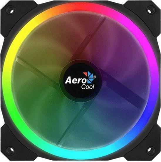 Охолоджувач Cooler for Case Aerocool Orbit RGB LED 120мм, 3-pin (код 101848)