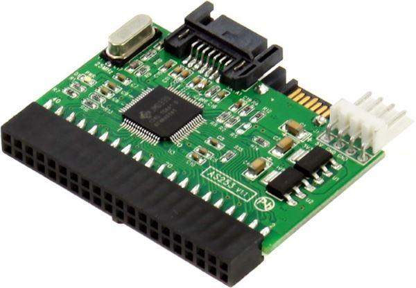 Адаптер Контролер Agestar IDE-SATA 1х40ріп IDE, 2xSATA (SATA-to-PATA i PATA-to-SATA) (код 49924)