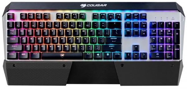 Клавіатура  Cougar ATTACK X3 RGB Iron grey ігрова механічна, Cherry MX Red, RGB-підсвітка (код 100121)