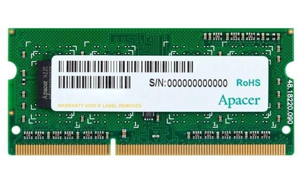 Пам'ять SoDDR3 8GB Apacer 1600MHz PC3-12800  1.35V (DV.08G2K.KAM) (код 101857)