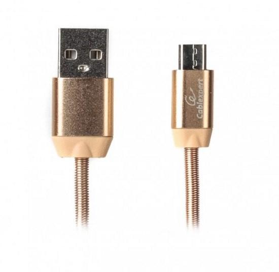 Кабель Cablexpert microUSB - USB 1 м (CCPB-M-USB-08G) преміум, 2.4 А (код 100140)