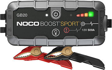 Пуско-зарядний пристрій Noco GB20 Boost Sport 500A UltraSafe Lithium Jump Starter, IP65, Power Bank (код