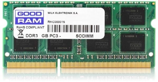 Пам'ять SoDDR3 4GB GOODRAM 1600MHz PC3-12800  1.35V (GR1600S3V64L11/4G) (код 71172)