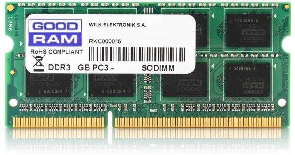 Пам'ять SoDDR3 4GB GOODRAM 1600MHz PC3-12800  1.35V (GR1600S3V64L11S/4G) (код 71173)