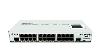Комутатор MikroTik CRS125-24G-1S-IN (24-port, PoE in, microUSB, Layer 3, RouterOS (Level 5))  (код 68024)