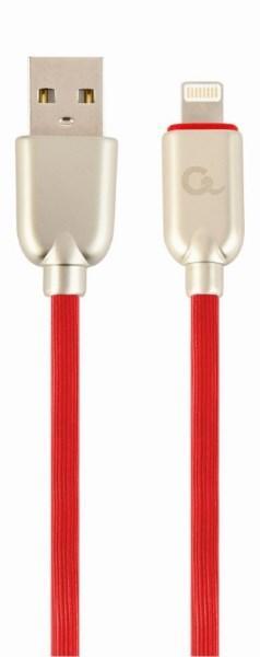 Кабель Cablexpert CC-USB2R-AMLM-1M-R А-папа/Lightning 1м, преміум, 2.1 А (код 109106)