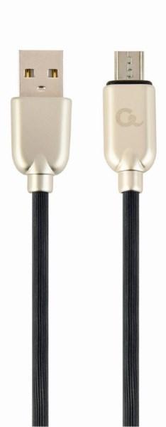 Кабель USB2.0-microB Cablexpert CC-USB2R-AMmBM-2M A-папа/Micro B-папа преміум 2.1 А (код 109114)