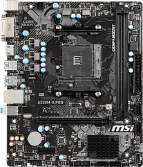 Мат. плата MB MSI A320M-A PRO (A320/sAM4/2xDDR4 3200(OC)/1xPCIе x16/1xPCIе x1/4xSATA3/RAID 0,1,10/GLan/HDMI,