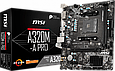 Мат. плата MB MSI A320M-A PRO (A320/sAM4/2xDDR4 3200(OC)/1xPCIе x16/1xPCIе x1/4xSATA3/RAID 0,1,10/GLan/HDMI,, фото 2