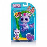 Інтерактивна ручна панда WowWee Fingerlings фіолетова іграшки для хлопчика дівчинки дитячі розвиваючі іграшки