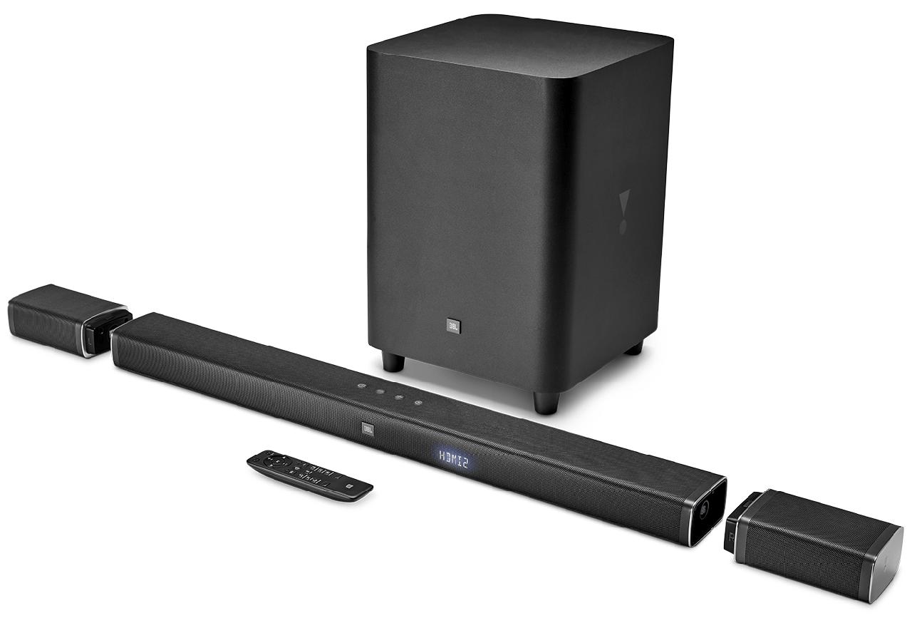 Домашні кінотеатр 5.1 SoundBar JBL, Bar 5.1, 4xHDMI, 1xAudio-In, 1xOptical S/PDIF, Bluetooth 4K Ultra HD