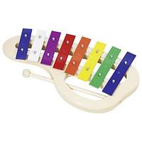 Музыкальный инструмент Goki Ксилофон радуга с ручкой детские музыкальные игрушки интерактивные для мальчиков