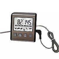 Цифровий термометр для м'яса ТР-710 (-0 до 300 ° С) з виносним щупом з нержавіючої сталі, з таймером і магнітом
