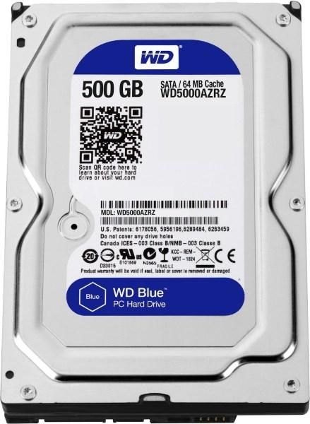 "Жорсткий диск HDD 500GB Western Digital Blue  3.5"", 5400rpm, SATA 3, 64MB  (WD5000AZRZ) (код 81574)"
