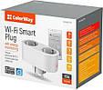 Розумна Wi-Fi-розетка ColorWay CW-SP2B-PTM подвійна (16A / 3680W, розпис, таймер, моніторинг енергоспоживання, фото 2