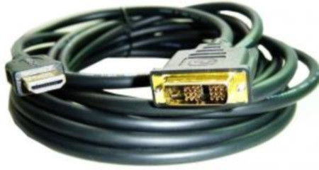 Кабель HDMI-DVI Cablexpert CC-HDMI-DVI-10MC V1.3/19-пін, позолоч, 10м (код 59723)