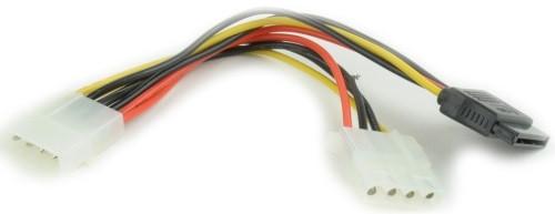 Шлейф живлення Gembird CC-SATA-PSY2 (Molex) M/F + SATA кабель живлення 135 мм (код 59732)