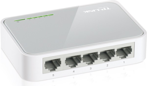Комутатор TP-Link TL-SF1005D (некерований, 5-Port 10/100Mbps Desktop Switch)  (код 41296)