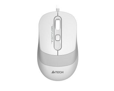 Миша A4 Tech FM10S (White) провідна Fstyler, USB (код 113804)