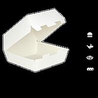 "Упаковка для Бургера ""Ю"" Белая (117х117х70), 1уп/25шт (1ящ/8рук/200шт)"