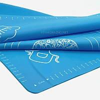 Силіконовий килимок для випічки антипригарний, великий 62*42 / Силіконовий килимок для випічки (синій)