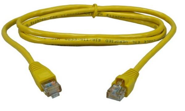 Патч корд Cablexpert UTP кат.5E 5м жовтий (код 78582)