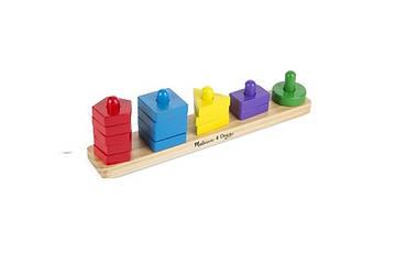 Розвиваюча іграшка Melissa & Doug Пірамідки на платформі (MD10379) (код 95231)