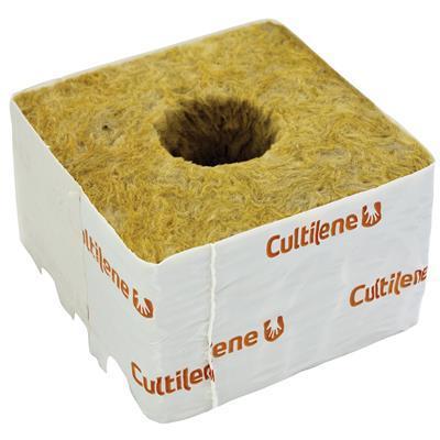 Кубики минеральной ваты Cultilène 10x10см c большим отверстием 38/35мм
